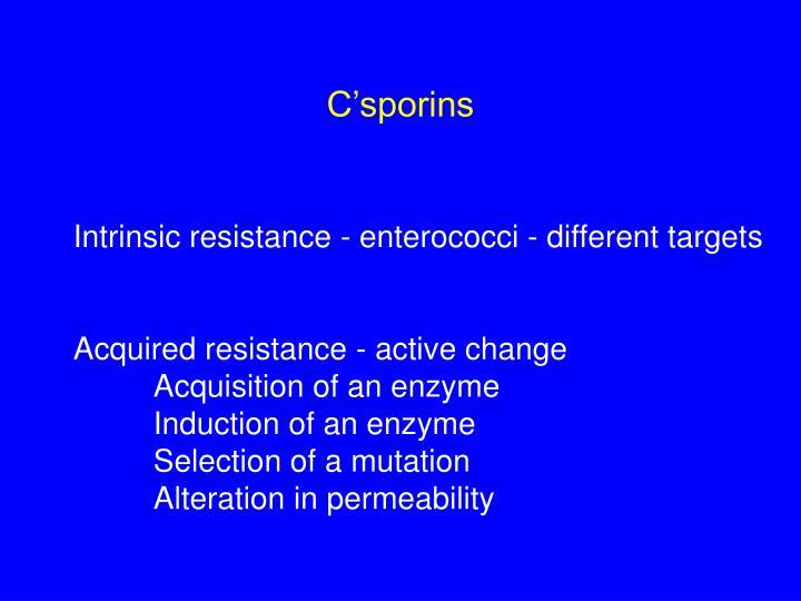 C'sporins