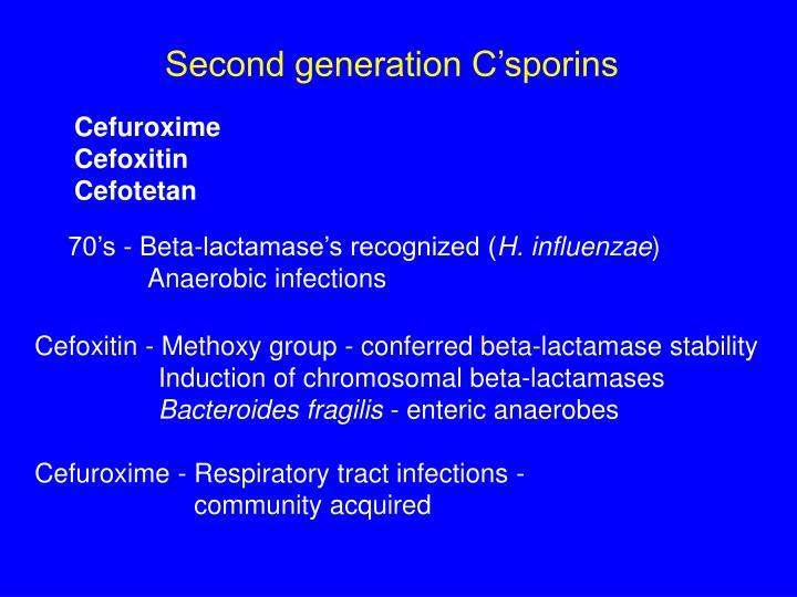 Second generation C'sporins