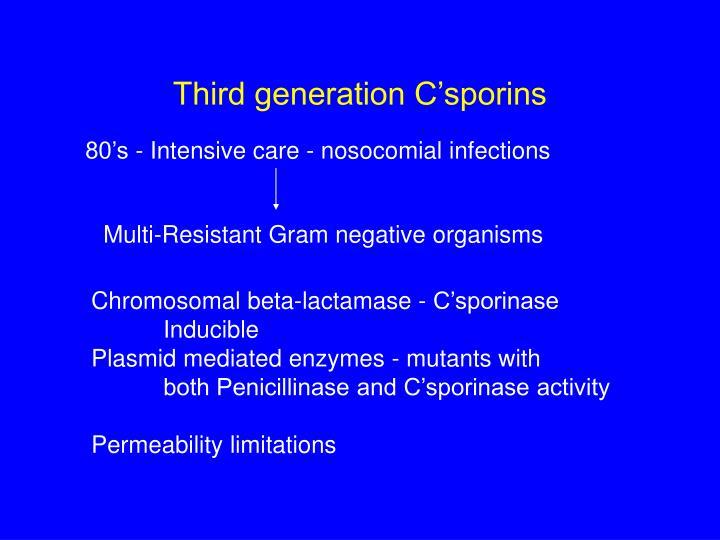 Third generation C'sporins