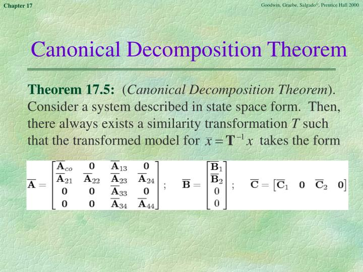 Canonical Decomposition Theorem