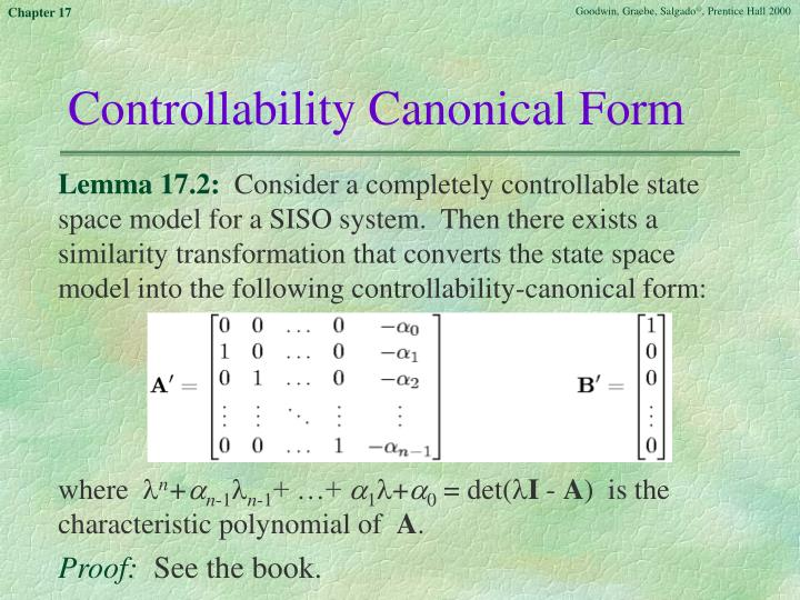 Controllability Canonical Form