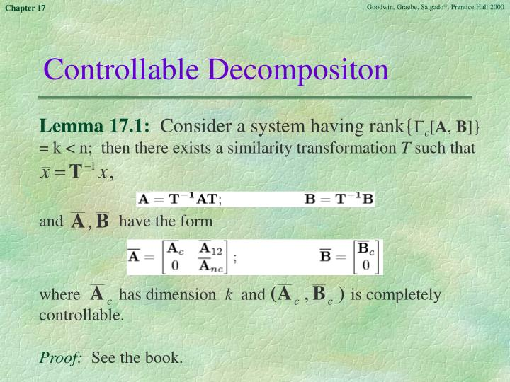 Controllable Decompositon