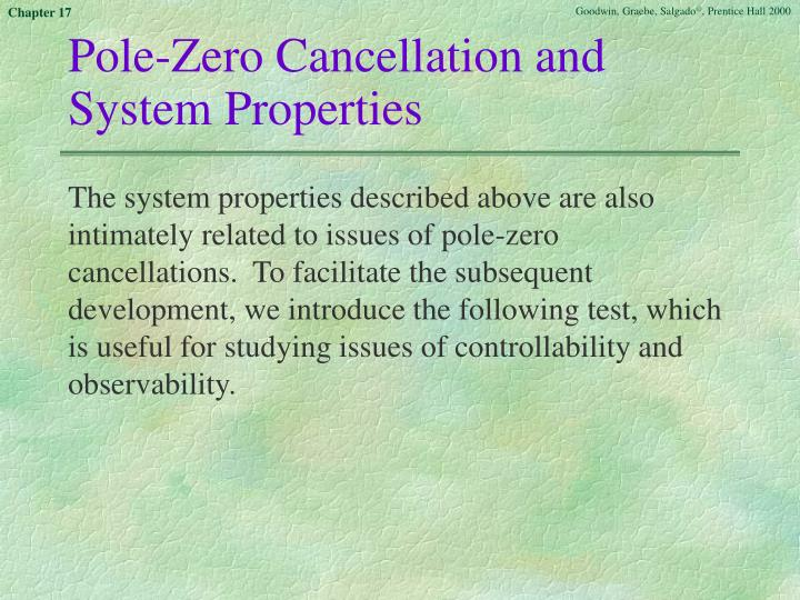 Pole-Zero Cancellation and System Properties