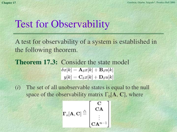 Test for Observability