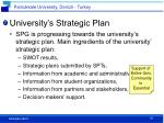 university s strategic plan
