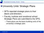 university units strategic plans