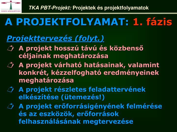 TKA PBT-Projekt: