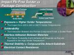 impact pb free solder on package construction