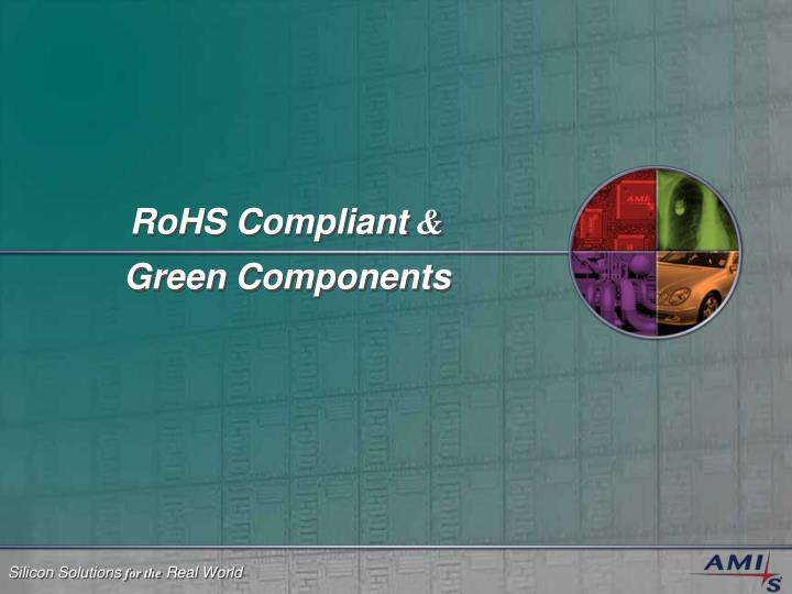 rohs compliant green components n.
