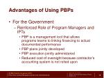 advantages of using pbps2