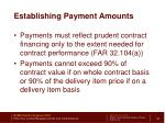 establishing payment amounts1