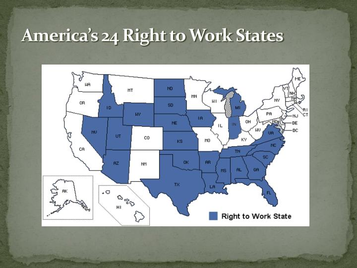 America's 24 Right to Work States