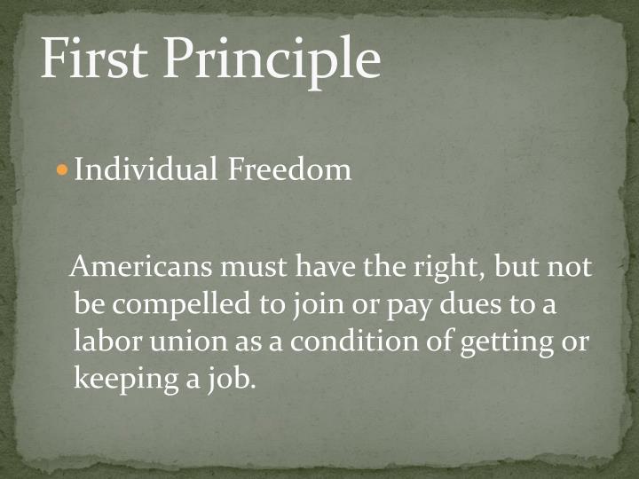 First Principle