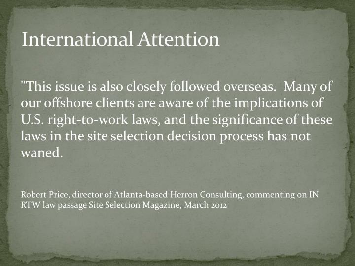 International Attention