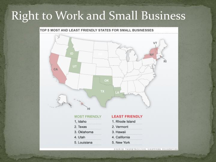 Right to Work and Small Business