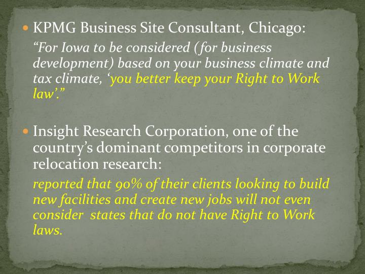 KPMG Business Site Consultant, Chicago: