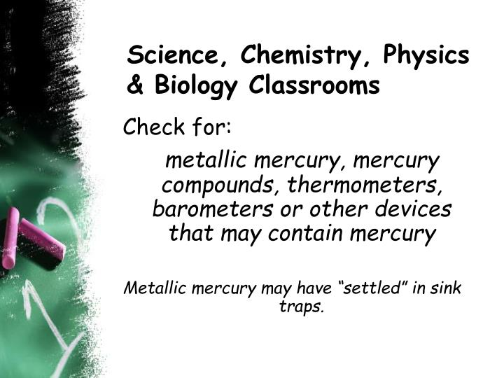 Science, Chemistry, Physics & Biology Classrooms