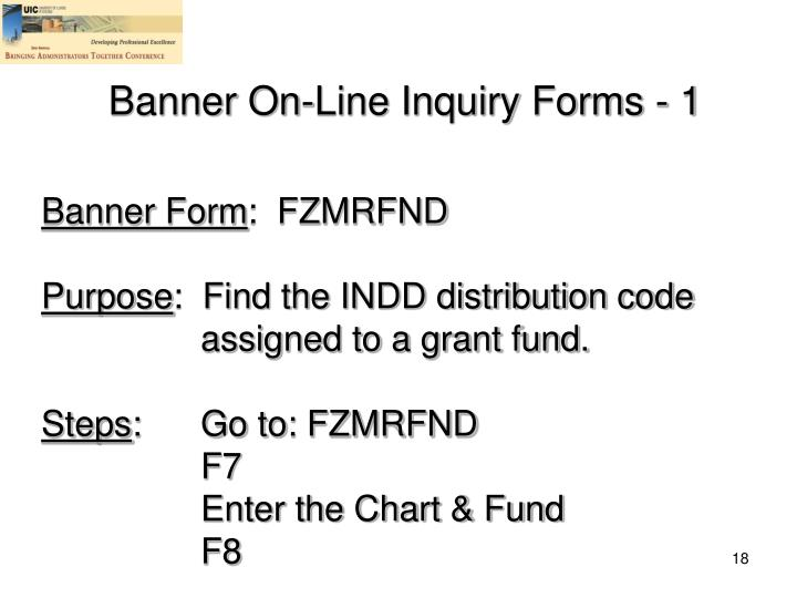 Banner On-Line Inquiry Forms - 1