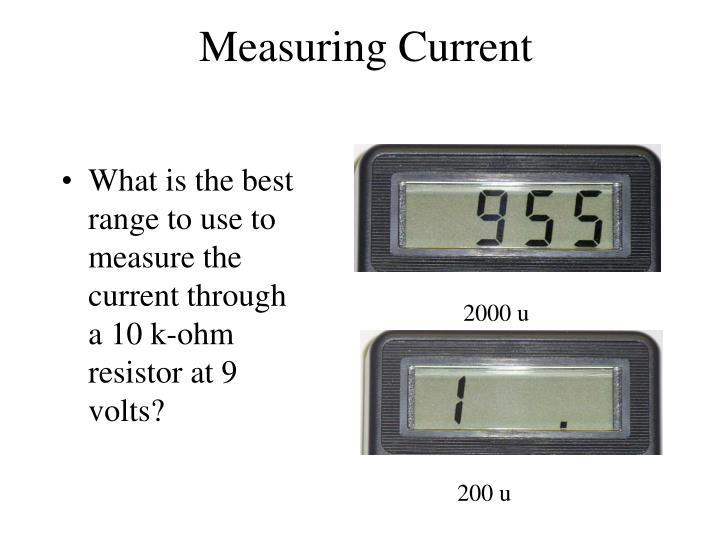 Measuring Current