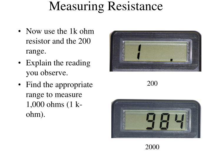 Measuring Resistance