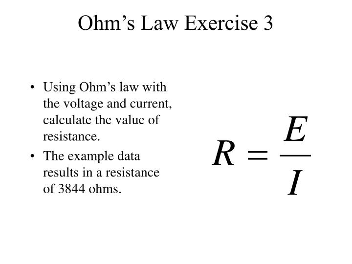 Ohm's Law Exercise 3
