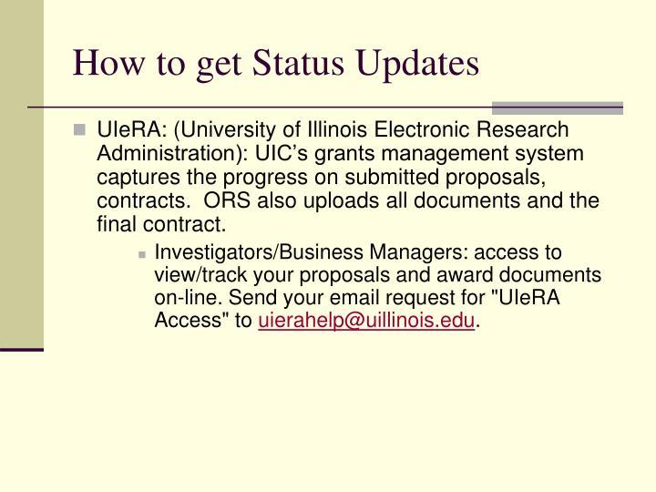 How to get Status Updates