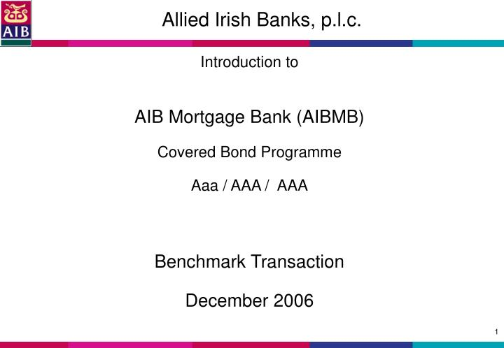 Allied irish banks p l c