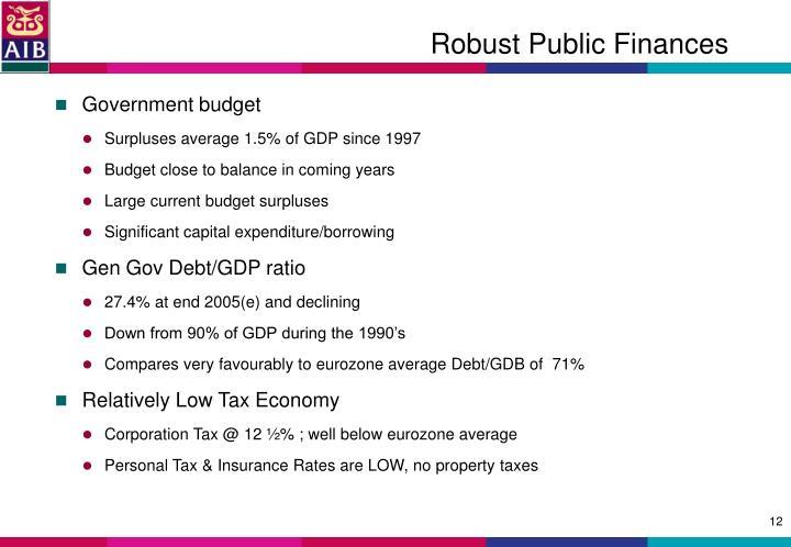 Robust Public Finances