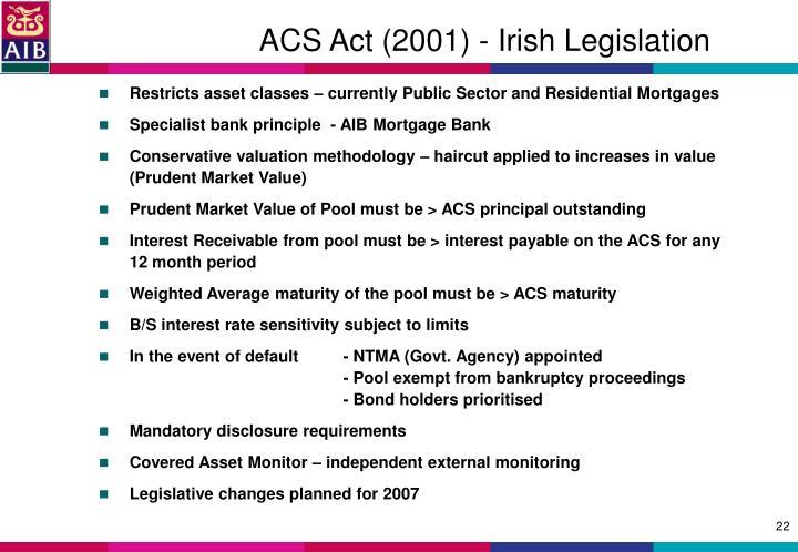 ACS Act (2001) - Irish Legislation