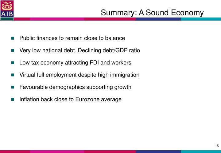 Summary: A Sound Economy