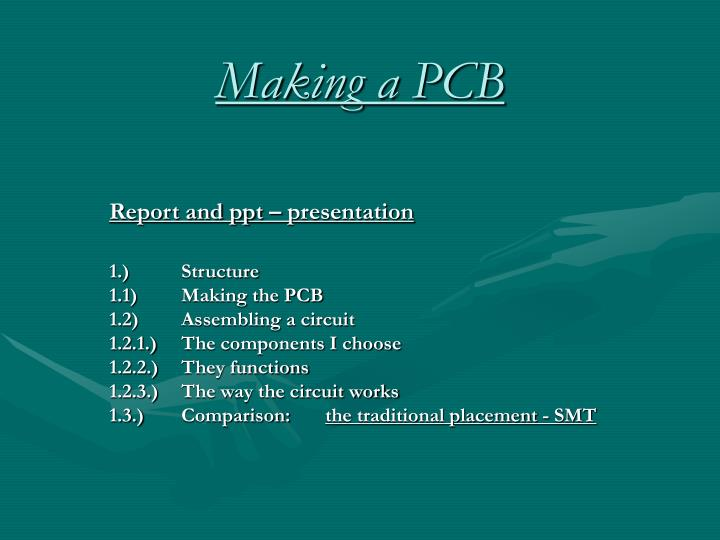 making a pcb n.