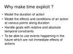 why make time explicit