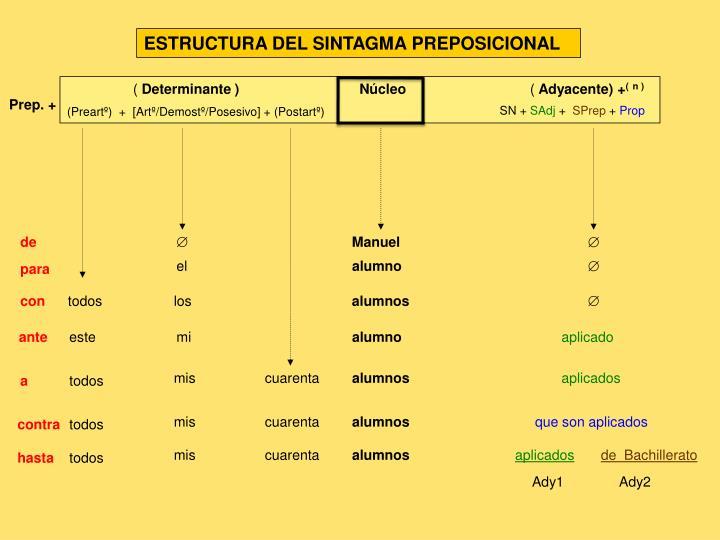 ESTRUCTURA DEL SINTAGMA PREPOSICIONAL