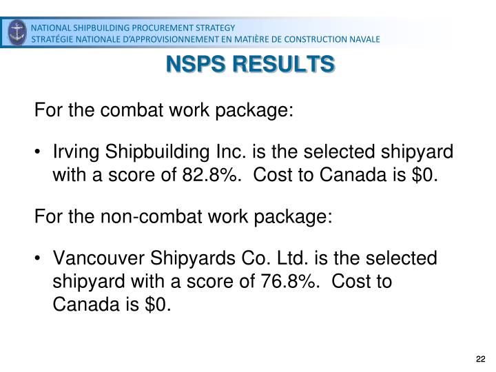 NSPS RESULTS