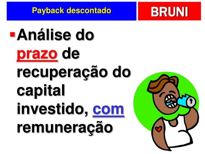 Payback descontado