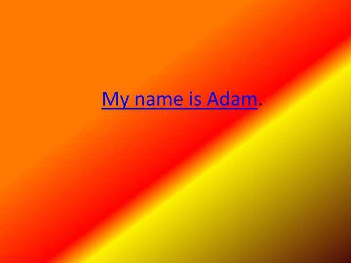 my name is adam n.