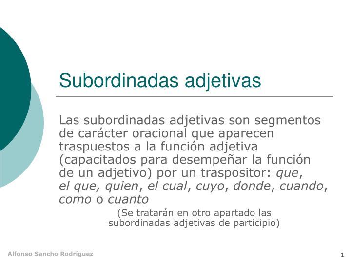subordinadas adjetivas n.