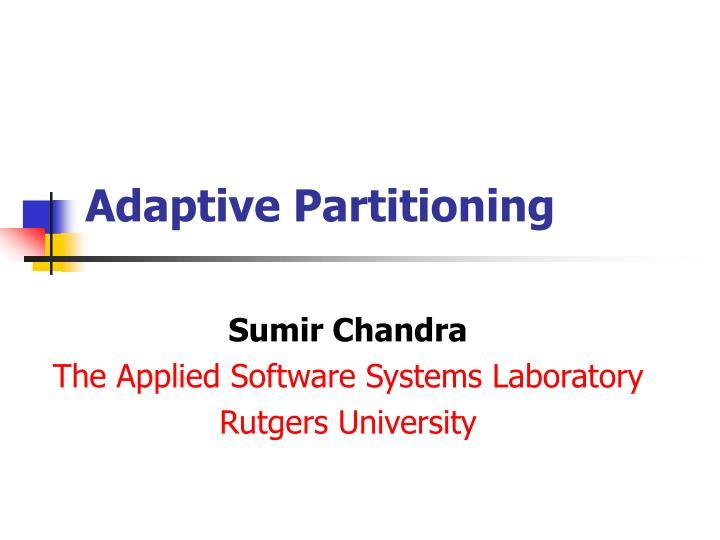 adaptive partitioning n.