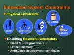 embedded system constraints