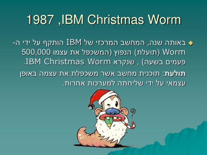 1987 ,IBM Christmas Worm