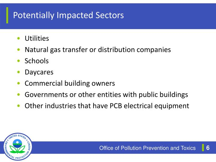 Potentially Impacted Sectors
