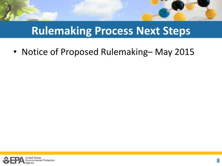 Rulemaking Process Next Steps