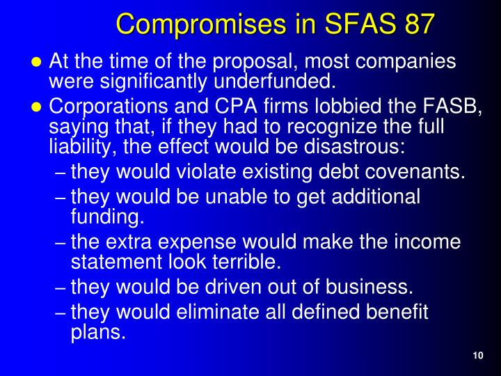 At the time of the proposal, most companies were significantly underfunded.