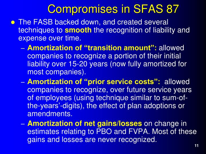 The FASB backed down, and created several techniques to