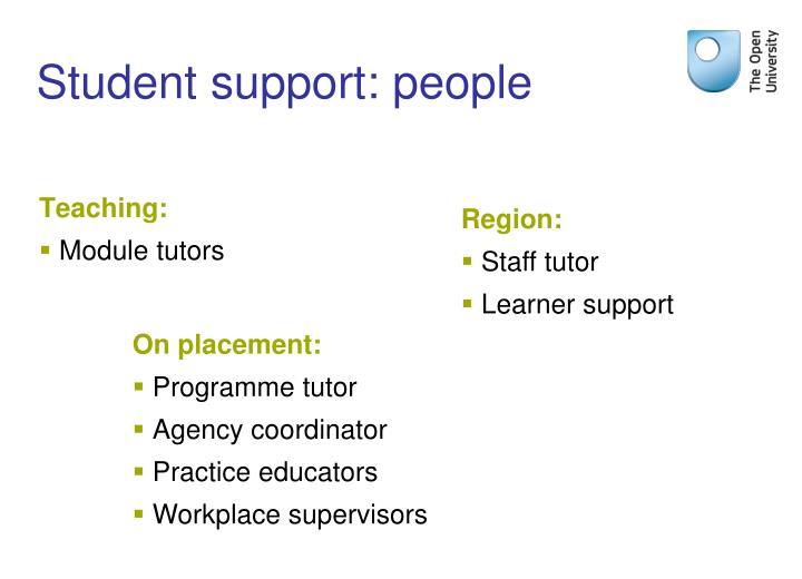 Student support: people