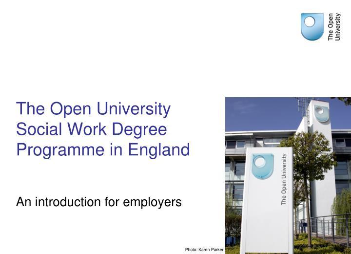 The open university social work degree programme in england