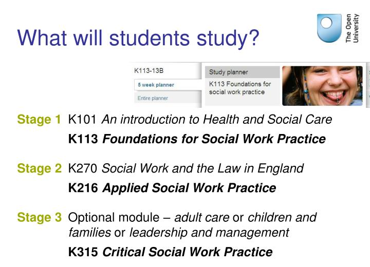 What will students study?