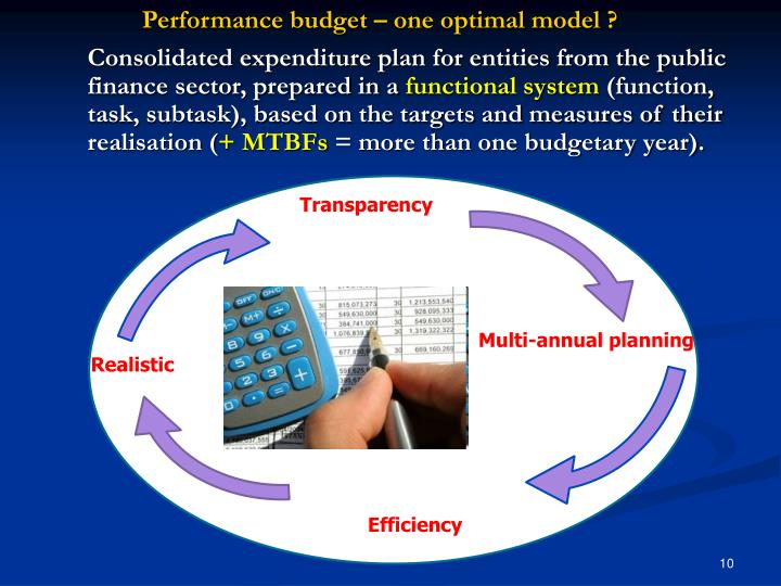 Performance budget – one optimal model ?