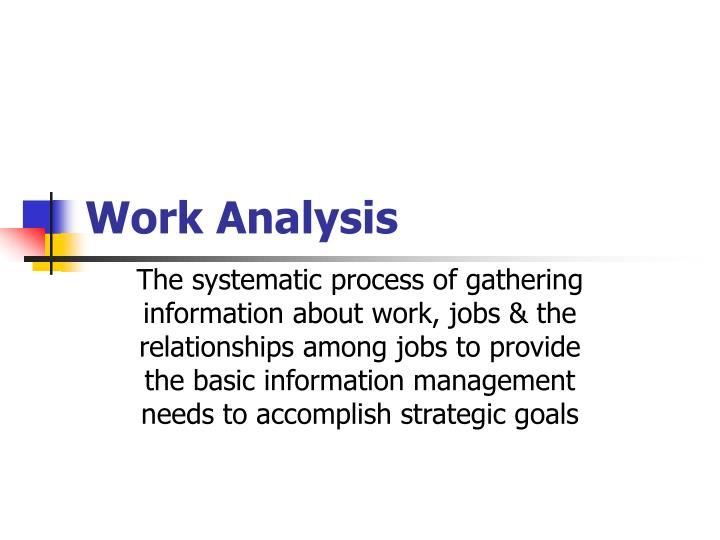 work analysis
