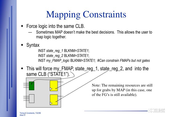Mapping Constraints